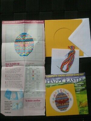 Cross Stitch Kit  Happy Easter Card  From Needlecraft • 2.50£