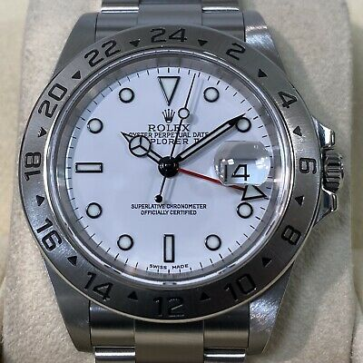 $ CDN11488.54 • Buy Rolex Explorer2 16570 White Dial Y-Number Box And Papers Automatic