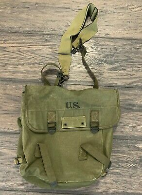 $59.94 • Buy Wwii Us Army M1936 Musette Field Bag Made By Atlantic Products Corp. In 1945