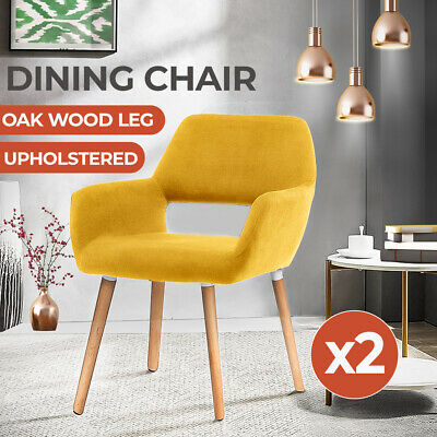 AU169.99 • Buy Levede 2x Armchair Lounge Chair Fabric Sofa Accent Dining Chairs Tub Armchairs