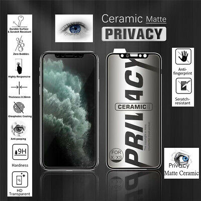 AU7.95 • Buy Ceramic Privacy Screen Protector For IPhone 11/12/X/XR/XS Max/12 Pro Max/12 Mini