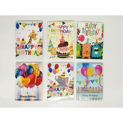 £9.99 • Buy 6 Pcs Happy Birthday Greeting Cards Diamond Painting Embroidery Childrens Gifts
