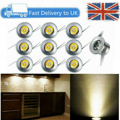 £16.89 • Buy 10 X 1w LED Recessed Small Cabinet Mini Spot Lamp Ceiling Downlight Kit Fixture