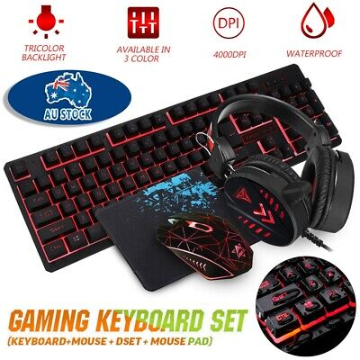 AU35.59 • Buy Gaming Keyboard Mechanical Keyboard And Wired Mouse Headset Three-piece Set AU