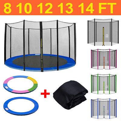 £71.95 • Buy 8 10 12 13 14 FT Trampoline Safety Net Enclosure And Spring Cover Padding Pads