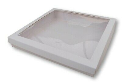 £2.49 • Buy 1 WHITE WINDOW 8 X 8 INCH BOXES, GREETING CARD GIFTS LINGERIE JEWELLERY