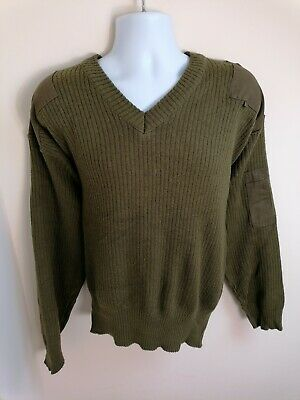 £19.37 • Buy Italian Army Mens V Neck Jumper Olive Green Size XL Military