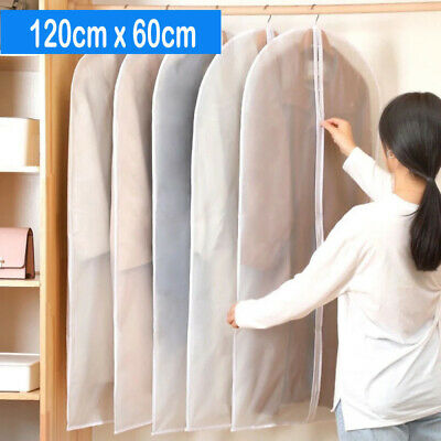 £10.85 • Buy 6 Pack Large Hanging Suit Bags Dress Coat Jacket Clothes Cover Dust Protector UK