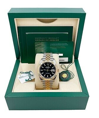 $ CDN17527.36 • Buy BRAND NEW Rolex 126333 Datejust 41 Black 18K Yellow Gold Steel 2020 Box Papers