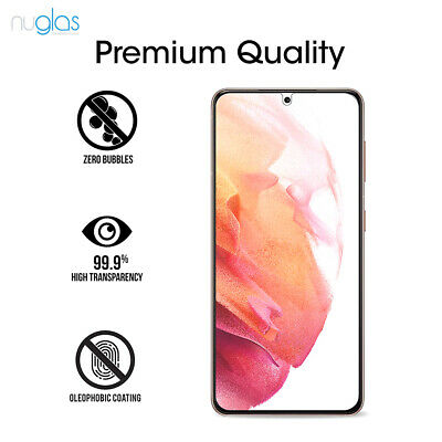 AU12.99 • Buy 2 Pack Nuglas Tempered Glass Screen Protector Samsung Galaxy S21 9h Clear