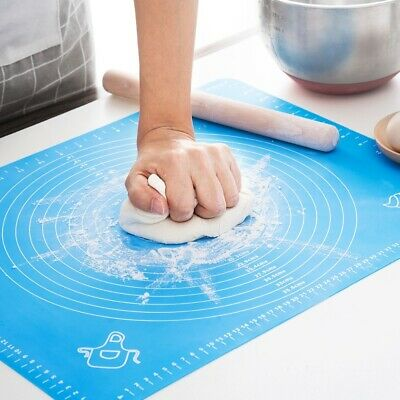 Silicone Cake Kneading Dough Mat Non Stick Baking Pastry Rolling Dough Pad Sheet • 4.34£