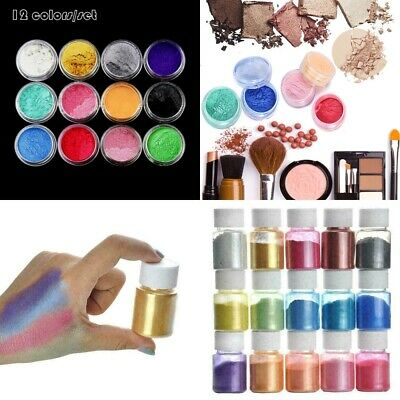 £3.59 • Buy 12/15Color Set Mica Pigment Powder Perfect For Soap Cosmetics Resin Colorant Dye
