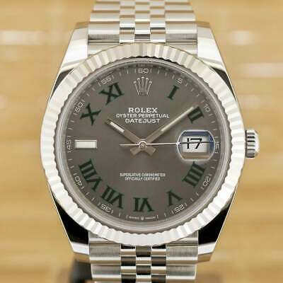 $ CDN17889.55 • Buy Rolex Datejust 41 Wimbledon - Unworn With Box And Papers February 2021