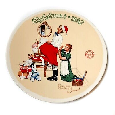 $ CDN24.45 • Buy Norman Rockwell  The Chrismas Surprise  1992 Christmas Collection Plate With COA