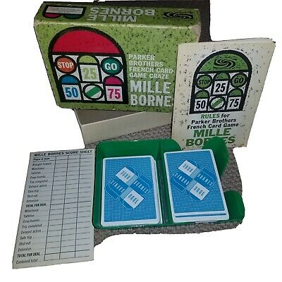 $19 • Buy 1962 Parker Brothers Vintage MILLE BORNES French Card Game - COMPLETE
