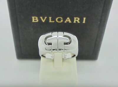AU1485 • Buy Authentic Bvlgari Bulgari Parentesi 18k White Gold Ring 53