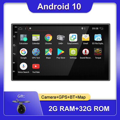 AU165 • Buy 7'' Android 10.0 Double 2 DIN GPS Car Stereo Head Unit 2GB+32GB Wifi USB BT DAB