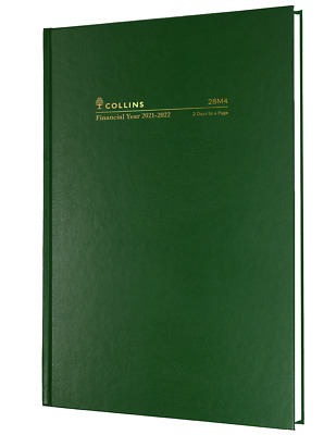 AU27.95 • Buy Collins Kingsgrove 2021 - 2022 Financial Year Diary A5 2 Days To Page Green 28M4