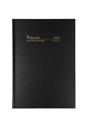 AU24.95 • Buy Collins Kingsgrove 2021 - 2022 Financial Year Diary A5 Week To View Black 38M4