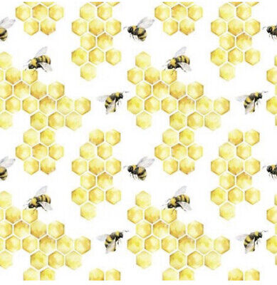 £2.50 • Buy 5 Paper Party Napkins Busy Bees Honey Bee Pack Of 5 3 Ply Tissue Serviettes Ti