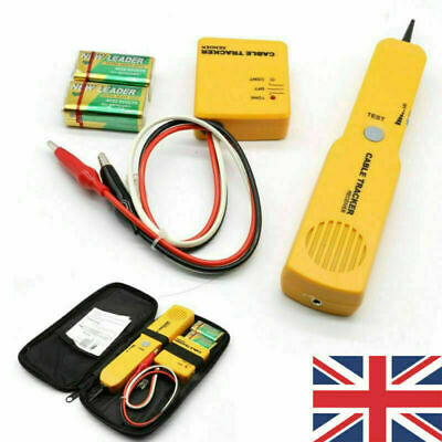 Cable Finder Tone Generator Probe Tracker Wire Network Tester Tracer Kit • 16.13£