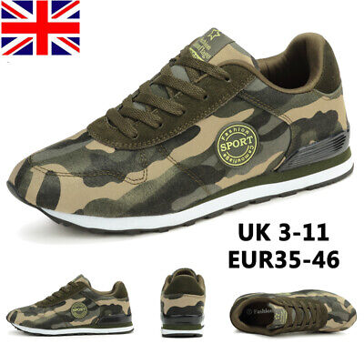 £16.21 • Buy Mens Womens Camouflage Trainers Sneakers Sports Gym Running Comfy Lace Up Shoes