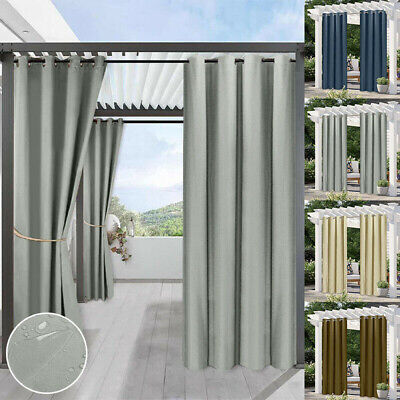 £30.83 • Buy Waterproof Curtains Outdoor Pergola Patio Stain Proof Thermal Insulated Drapes