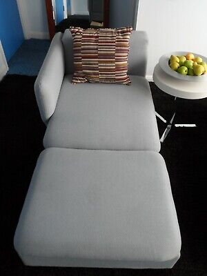 £50 • Buy Pale Blue Chaise Longue Chair Sofa, 2 Seater