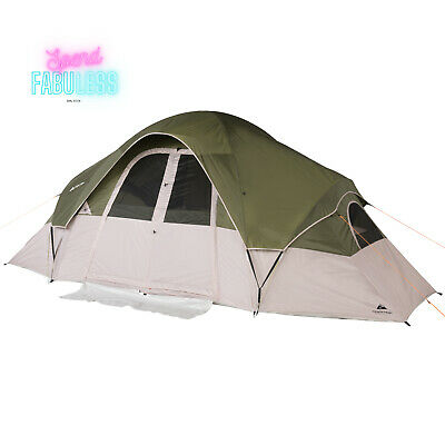 AU166.59 • Buy 8 Person Modified Dome Tent 2 Room With Roll Back Fly Outdoor Family Shelter New