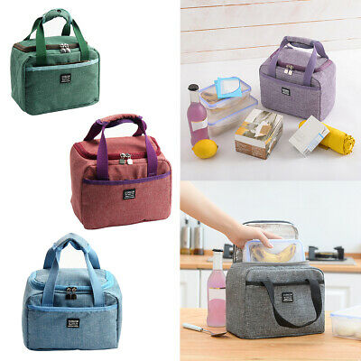 AU9.99 • Buy Thermal Insulated Lunch Bag Cool Bag Picnic Lunch Box Storage Bag Zipper