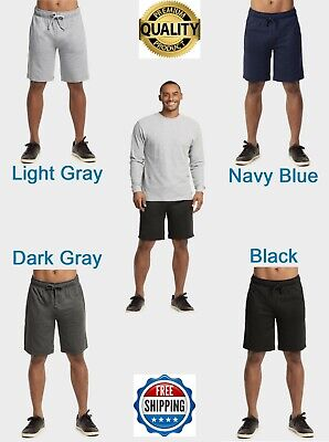 $15.75 • Buy Men's French Terry Shorts Light Soft Cotton W/ Pockets Gym Workout Sweat Pants