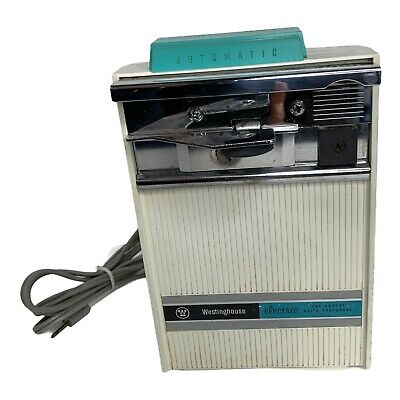 $ CDN75.31 • Buy Vintage 60's Automatic Can Opener Westinghouse Knife Sharpener Aqua Turquoise