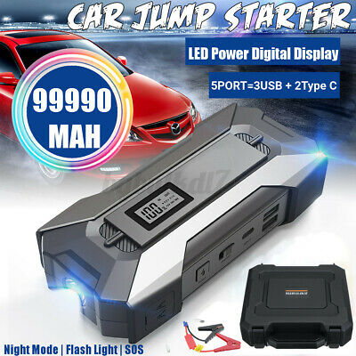 AU53.20 • Buy 99900mAh Portable Car Jump Starter Vehicle Charger Power Bank Battery Engine