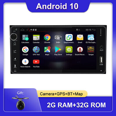 AU229 • Buy 7inch Android 10.0 2 Din Car Radio Stereo Head Unit For Toyota GPS SAT NAV Map