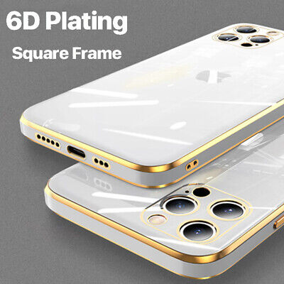 AU5.71 • Buy Case For IPhone 12 Pro Max 11 XS XR X 8 7 SE 2 ShockProof Plating Silicone Cover