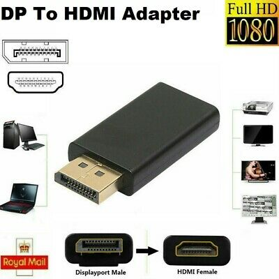 Display Port DP Male To HDMI Female Adapter Converter For 4K HD 1080P HDTV PC UK • 3.09£