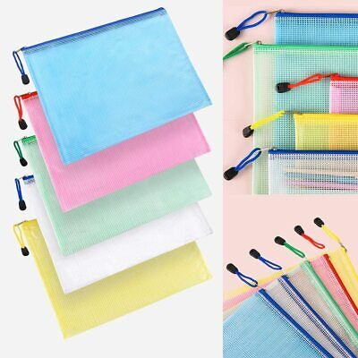 £6.59 • Buy Plastic Zip File Bags Storage Document Folder Protective Wallet Pocket A4/A5/A6
