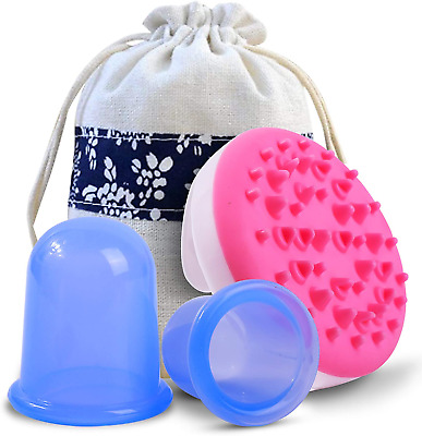 Anti Cellulite Silicone Cup For Vacuum Cellulite Massager Cupping Therapy Set • 13.87£