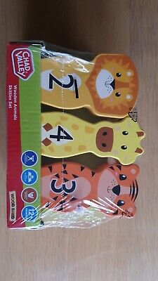 £10 • Buy Chad Valley Wooden Animals Skittles Set Kids Children Toys Games Learning