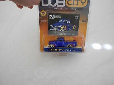 AU5.07 • Buy New In Package Dub City 53 Chevy Pickup Blue Flames