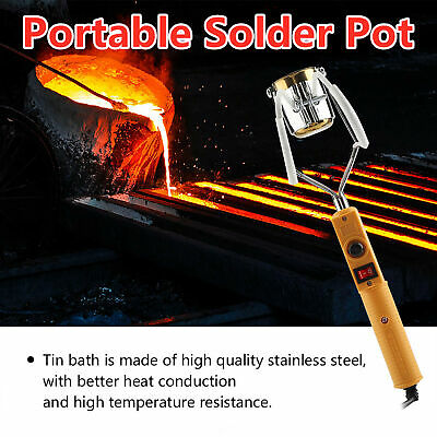£13.96 • Buy 180W/280W Electric Portable Solder Pot Melting Tin Furnace + Temperature Control