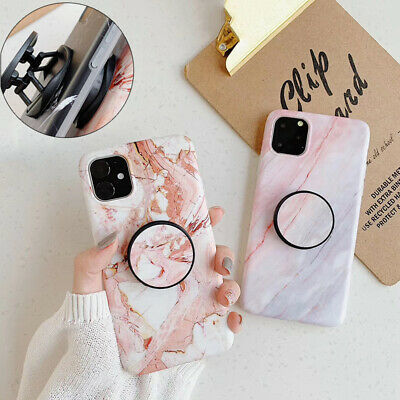 Marble Phone Back Case For Huawei P20Pro P20Lite P30 P30Pro Cover With Holder • 7.29£