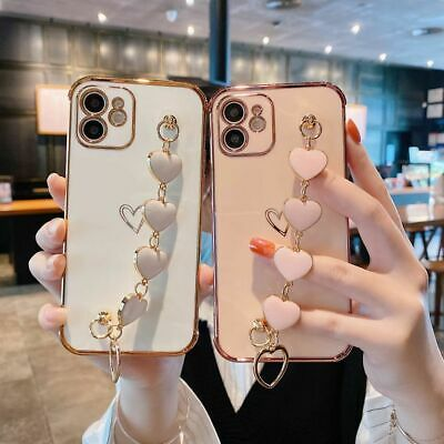 AU10.27 • Buy Bling Glitter Plating TPU Case Cover W/Strap For IPhone 12 11 Pro Max XR XS 7 8