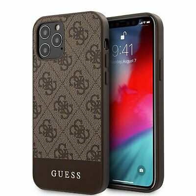 £21.24 • Buy Guess® PC/TPU 4G PU Leather Metal Logo Case For IPhone 12 Pro Max Brown