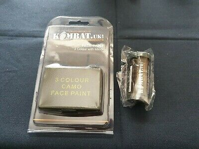 Kombat UK Camouflage Face Paint Cam Cream Stick & 3 Colour With Mirror • 7.99£