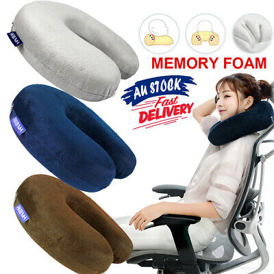 AU13.95 • Buy Memory Foam Cushion Support Neck Pillow Washable U Shaped Airplane Travel