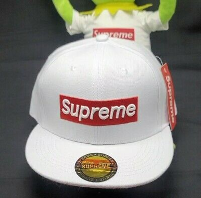 $ CDN109.17 • Buy Supreme White Flat Adjustable Box Logo Cap *brand New - Fast Free Shipping*