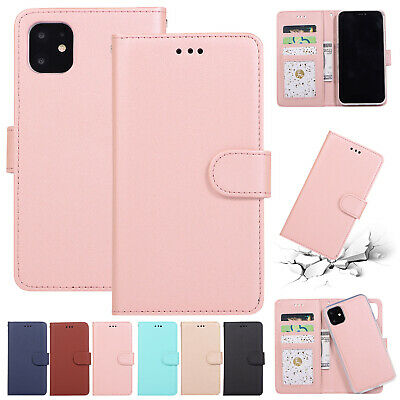 AU13.49 • Buy For IPhone 12 Pro Max 11 XS XR 8 7+ Removable Magnetic Wallet Leather Case Cover