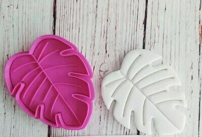 AU7.50 • Buy Palm Leaf Cookie Cutter/Embosser Fondant Biscuit 2 Piece Set