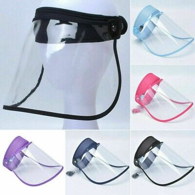 Full Face Shield Visor Protection Mask PPE Transparent Clear Plastic Anti Fog • 5.99£